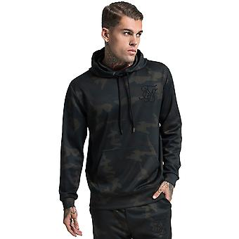 Sik Silk Hoodie Poly Tricot Overhead - Black Camo