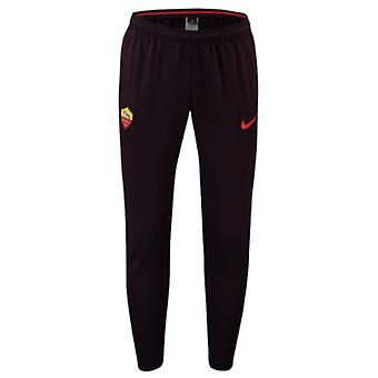 2018-2019 AS Roma Nike Squad Training Pants (Burgundy)