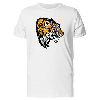 Cabeça de tigre mascote da velha escola Tee MASC-imagem por Shutterstock