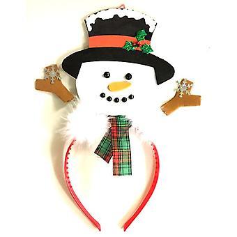 Muñeco de nieve en diadema