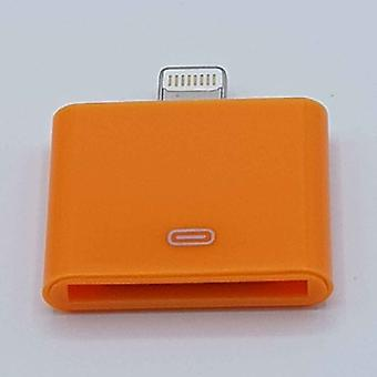 30 pin salama on yhteensopiva (8 Pin) kaapeli sovitin-Ipad/iPhone-oranssi