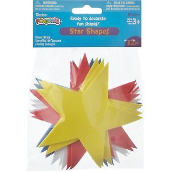 Foam Shapes 12/Pkg-Stars