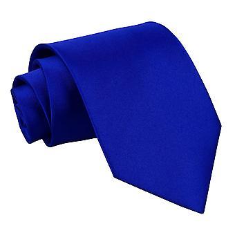 Royal Blue Plain Satin Extra lange Krawatte