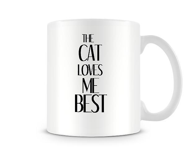 Gatto mi ama meglio stampato Mug