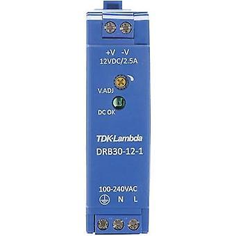 Rail mounted PSU (DIN) TDK-Lambda DRB-30-12-1 12 Vdc 2.5 A 30 W 1 x