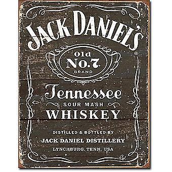 Jack Daniels Woodcut Logo Steel Sign