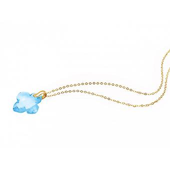 Bleu de Collier - Collier - pendentif - 925 argent plaqué - topaze bleue - - 2,5 cm