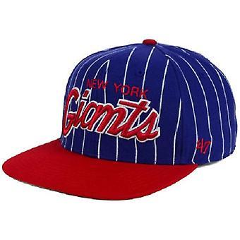 New York Giants NFL 47 Brand Pinstripe Adjustable Hat