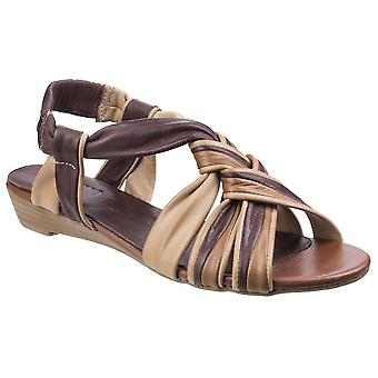 Riva Womens/Ladies Cala Leather Strappy Slingback Sandals