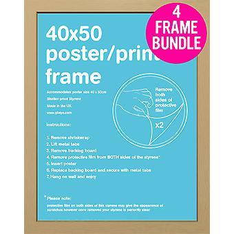 Bundle di GB poster 4 rovere Mini Poster frame 40x50cm