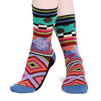 Corset women's crazy combed cotton crew socks | French design by Dub & Drino