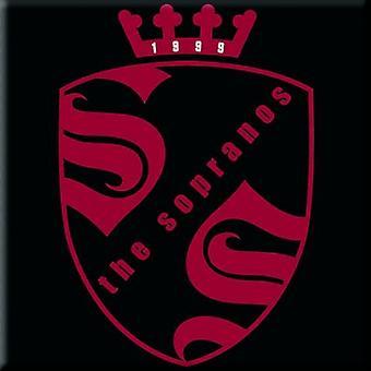 ソプラノ冷蔵庫マグネット家紋ロゴ公式の新しい 76 mm × 76 mm