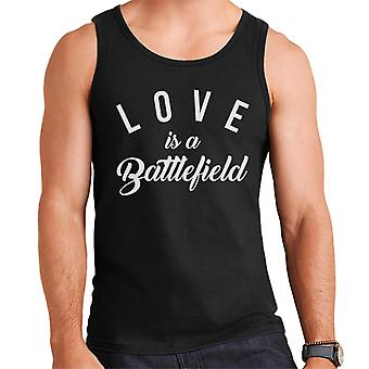 Love Is A Battlefield Song Lyric Men's Vest