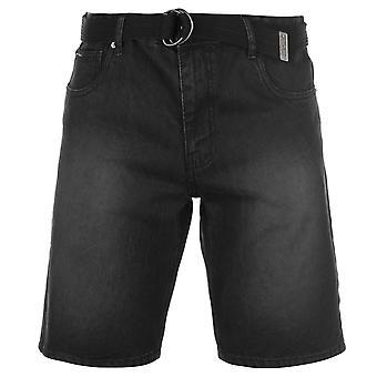Pierre Cardin Mens Denim Web gordel Shorts broek broek bodems katoen Regular