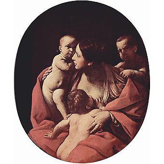 Christian Charity, Guido Reni, 60x50cm
