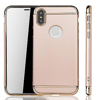 Apple iPhone XS mobiele cover case bumper Hard Cover goud