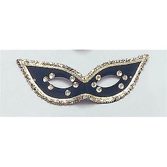 Fiesta Domino Eye Mask. Black.