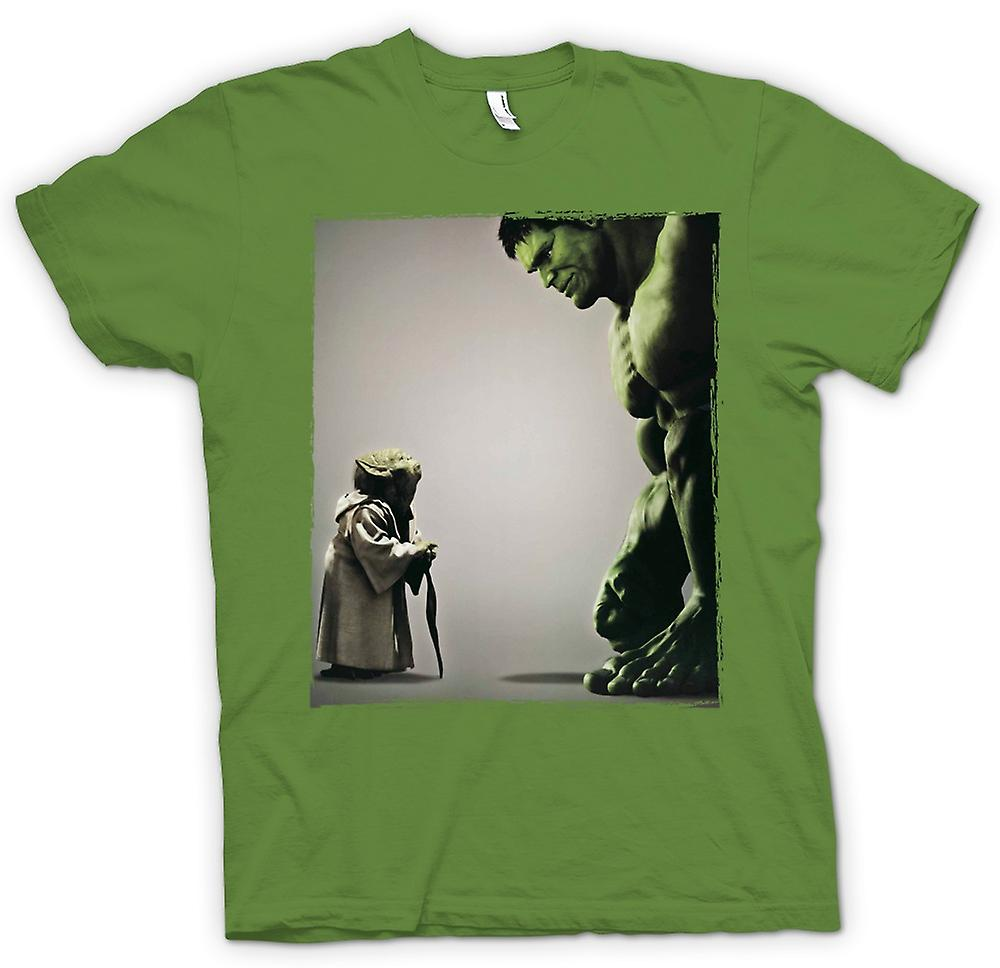 Mens t-skjorte - Yoda V Incredible Hulk - Super helten