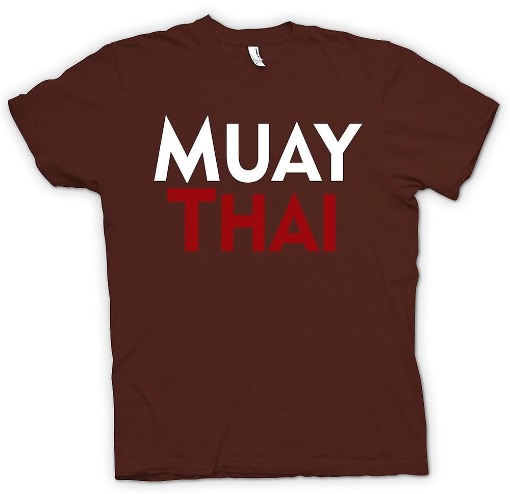 Mens T-shirt - Muay Thai - Martial Art - Slogan