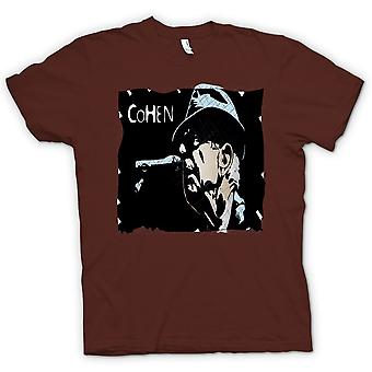 Womens T-shirt-Leonard Cohen legende