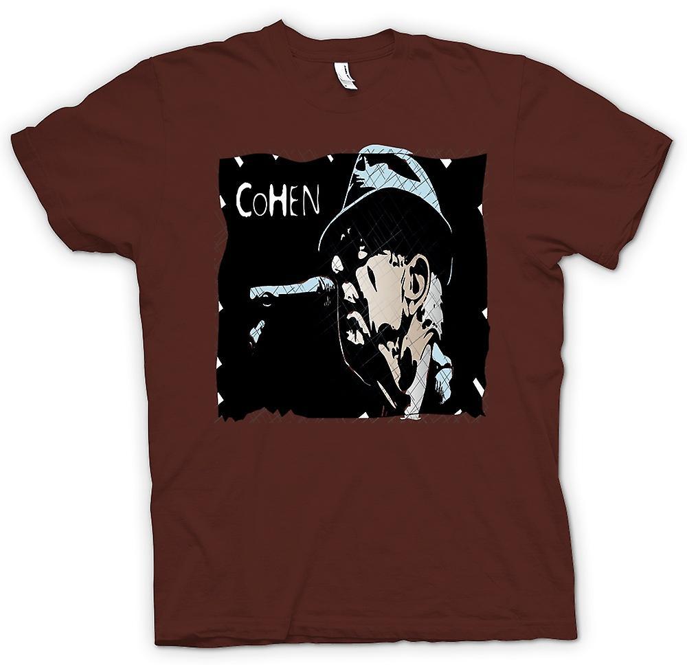 Mens t-skjorte-Leonard Cohen legende