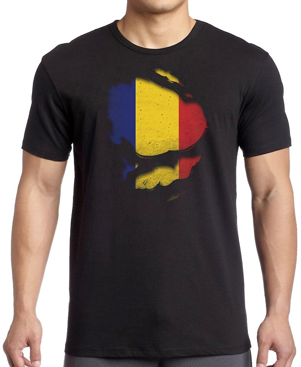 Romania Ripped Effect Under Shirt T Shirt