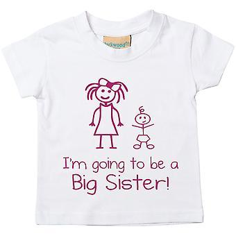 Voy a ser una gran hermana blanco Tshirt