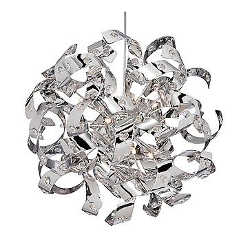 Searchlight 9812-12CC CURLS 12 Light Pendant Ceiling Light In Chrome