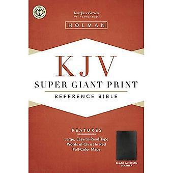 Bible Kjv Super Giant Print Reference Black (King James Version) [Large Print]