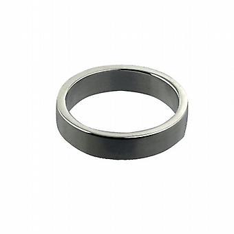 Platino 4mm pianura piatto P dimensione anello di nozze