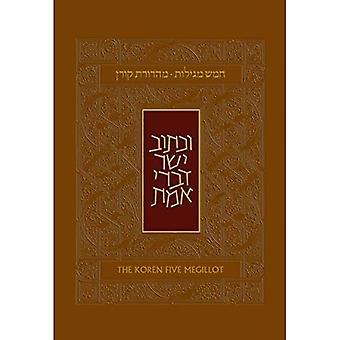 Koren Five Megillot, Hebrew/English, Hardcover