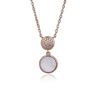Orphelia argent 925 Collier avec pendentif Rose avec la mère de perle et de Zirconium pierres 45 CM