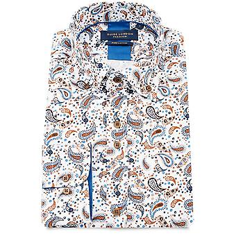 Guide London Pure Cotton Paisley Print Mens Shirt
