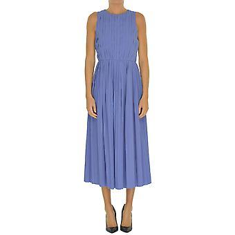 Alysi blaue Baumwollkleid