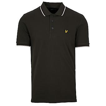 Lyle & Scott  Lyle & Scott Khaki Tipped Polo Shirt