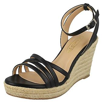 Kære plet på rebet kile Strappy sandaler F2275