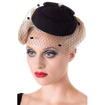 Banned Black Judy Fascinator Hat