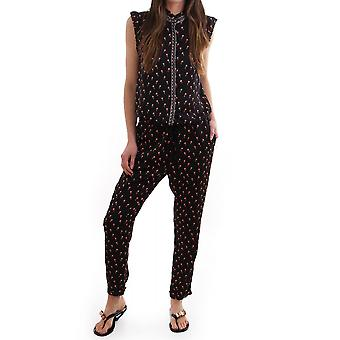 Maison Scotch Womens Jumpsuit By Maison Scotch With Palm Tree Pr