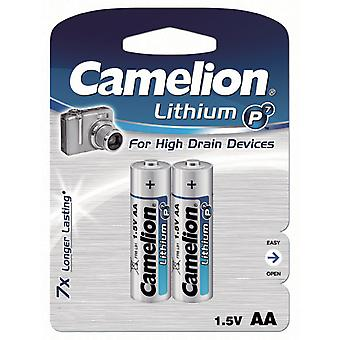 Battery AA Lithium 2-pack Camelion FR6
