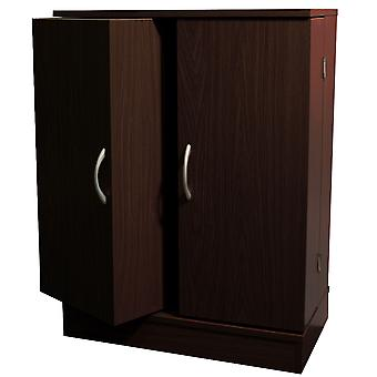 Columbus - Double Door 324 Cd / 213 Dvd Media Storage Cabinet - Dark Oak