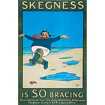 Skegness (old rail ad.) mounted print