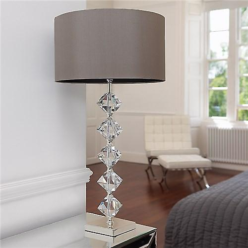 Endon VERDONE Verdone Modern Stylish Crystal Table Lamp With Silver Base