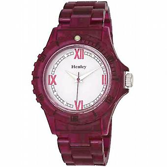 Henley Glamour Berry gjennomskinnelig Sports Watch
