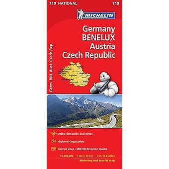 Germany - Benelux - Austria - Czech Republic National Map 719 - 97820