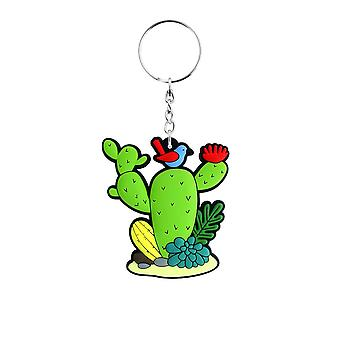 Grindstore Cute Prickly Cacti Rubber Keychain