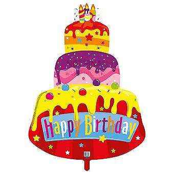 Shape Folienballon Kuchen Torte Happy Birthday 80x110 cm Heliumballon