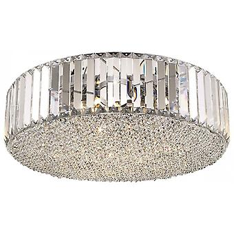 Flush Fitting Luminaire In Chrome And Clear