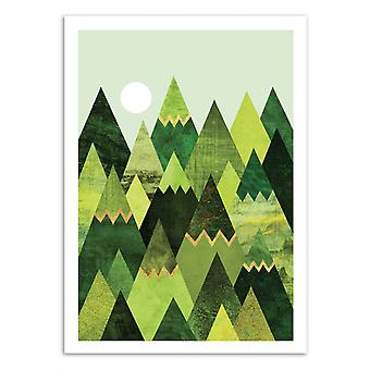 Art-Poster - Forest Mountains - Elisabeth Fredriksson 50 x 70 cm