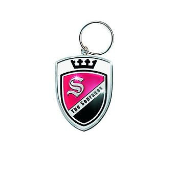 The Sopranos Keyring Keychain Crest Logo new Official metal