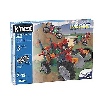 K'nex Imagine 4wd Demolition Truck Toy Building Set